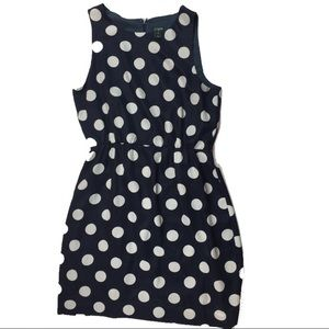 J.Crew Factory Polka Dot Sleeveless Dress Sz 6